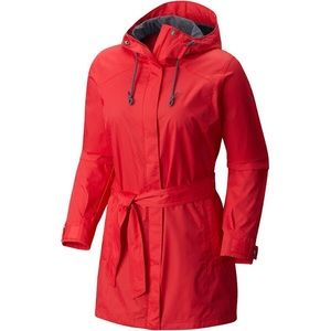 NWT Columbia Red pardon my trench jacket size S